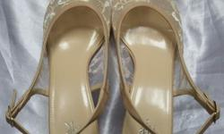 "DMK beige 3"" heel shoes. Reasonably good condition"
