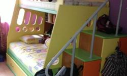 Solid double bunk bed which is in very good condition.