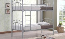 Brand New, Double deck bed with thick frame Silver