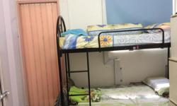 Clear space.Double decker bed with foam matress @ $50.