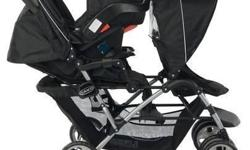For sale a very practical GRACO double stroller with an