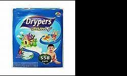 Drypers Drypers size S - $52/ctn Packaging - 4 packets