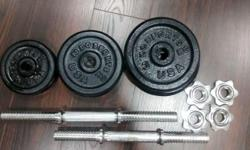 Dumbbells For Sale! As good as new! (Rust Free) Total