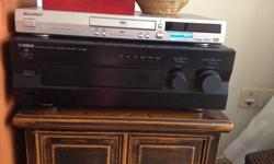 Pioneer DVD player and Yamaha amp for sale- both for $