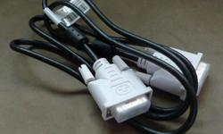For sale: DVI cable, white (used) - Length: 1.5m -