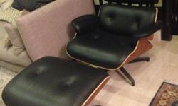 "Inspired by Charles and Ray Eames, ""Eames Lounge Chair"