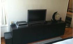Entertainment Unit with Storage   Dark Brown   (see