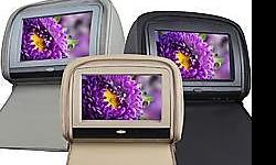 "9"" Digital touch screen headrest DVD player with zipper"