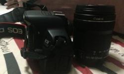 selling EOS Canon 650 D camera with box, bag and