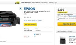 EPSON WIFI INKJET ALL IN ONE W FAX LOW COST HIGH YIELD