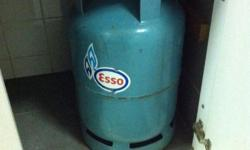 Esso LPG gas cylinder 12.7 kg with about half gas