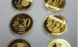 EURO GOLD plated coins. Good condition / Buyer