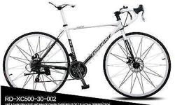 21 Speeds 23 Inch aluminium wheel. Front shift Shimano