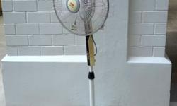 EuropAce electric standing fan. Electronic type of