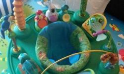 Preloved saucer jungle-themed toys, great for baby to