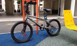 Branded HARO BMX stunt bike. Front tyre flat for quick