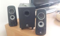 Logitech Z323 speaker system and subwoofer available in
