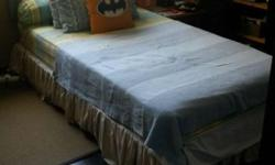 - Selling Single Bed Frame with Mattress, - Bed sheets,