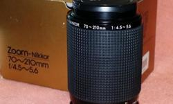 Rarely used, excellent condition zoom lens for Nikon F