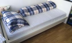 Expat Sale - for free! 2 white IKEA bed frames