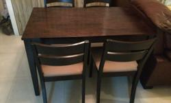Dining set (Table with 4 Chairs), for moving out sale.