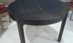 For sale brown black dining table that can be collapsed