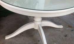 Extendable dining table with glass top @ $50 Extendable