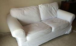Expat leaving Singapore Sale: Fabric Two Seater Sofa,