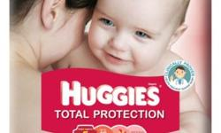 Huggies Total Protection 3 packets / ctn Sizes : M -