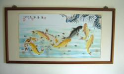 Very unique Feng Shui painting featuring 8 very lively