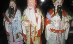 "Hi Selling 17"" inch tall Chinese statue made of"