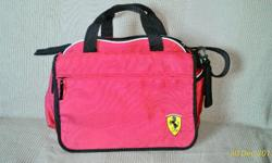 New Red Ferrari Sling Bag with labels intact.