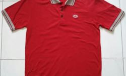 Fedelio polo t-shirt (USA brand). Men red clothes in
