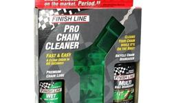 Finish Line Pro Chain Cleaner Set - Wet Lube