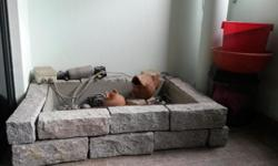 Selling used water fountain real brick and fiberglass