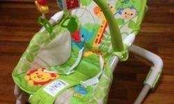 almost new fisher price bouncer. Seat cover washed and