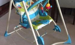 Fisher price baby swing with 2 speeds and melodies. The