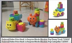 Preloved Fisher-Price Stack 'n Surprise Blocks