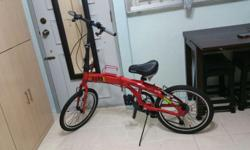 Very good condition foldable bicycle. shimano speed.