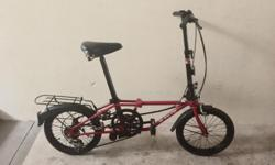 "Foldable Bicycle for sale. 16"" well maintained."