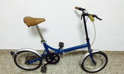 Foldable bicycle for sale, well maintained 16""