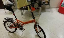 Folding bike for sale. original seat will be fitted if