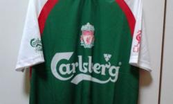 Brand new Liverpool football jersey from Carlsberg.