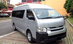 TOYOTA HIACE HI-ROOF COMMUTER 13 SEATER FOR RENT LONG