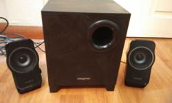 For sale Beautiful CREATIVE sounds system speakers