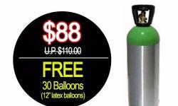 * Free 30 latex balloons * 3 days rental * Inflate