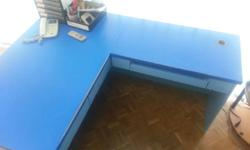 Giving away a big L-shape table, good condition,
