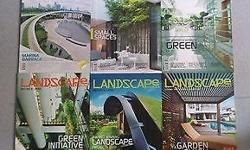 Landscape Forum Magazines from: Issue 1, 2, 5, 6, 7, 8.