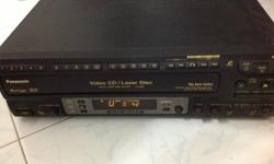 Panasonic VCD/LD LX-V880 player. Partially working. Can