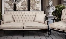 French Furniture Singapore Natural linen blended 3